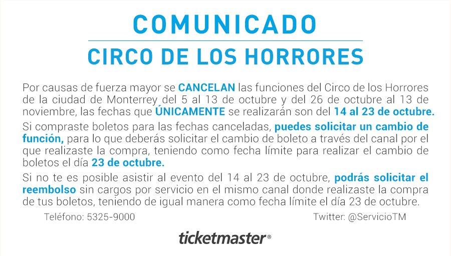 Ticketmaster comunicado de prensa