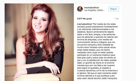 Alicia Machado publica carta sobre la nueva Era Donal Trump