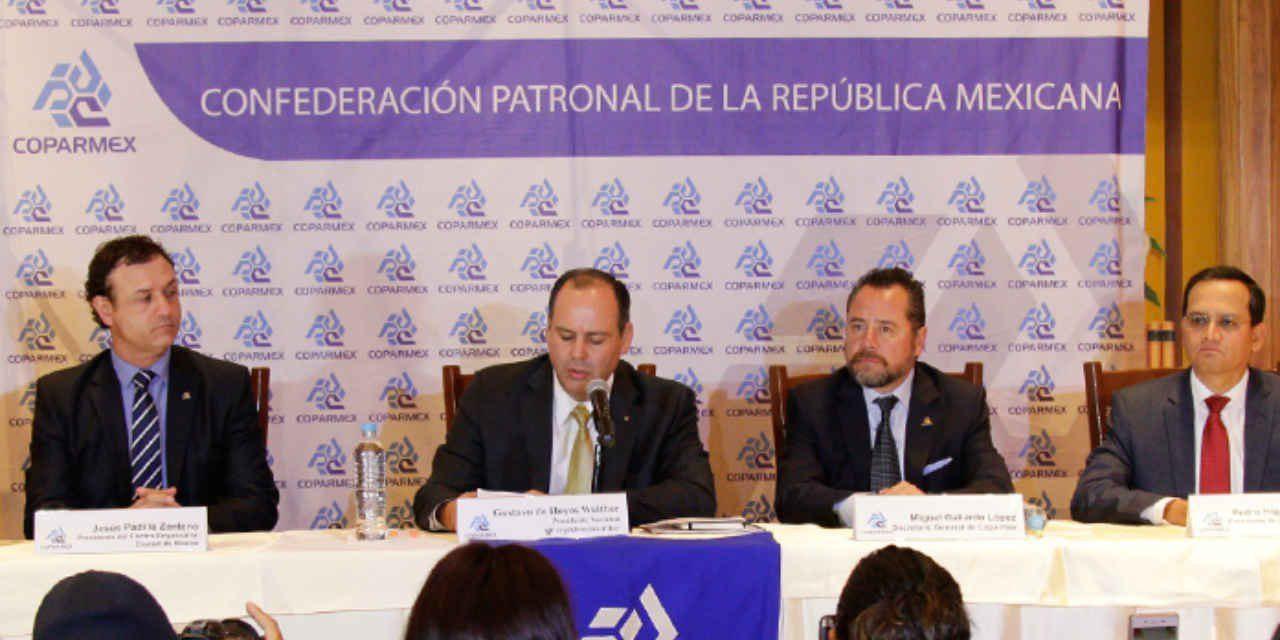 COPARMEX rechaza de nuevo acuerdo promovido por EPN