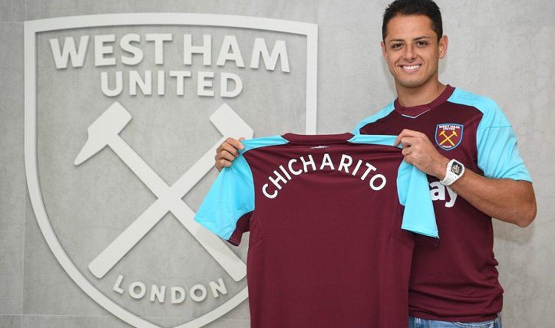 """""""Estoy feliz y agradecido de vestir este jersey""""- Javier """"Chicharito"""" Hdz."""