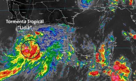 Tormenta tropical 'Lidia' en el Pacífico; hay alerta en varios estados