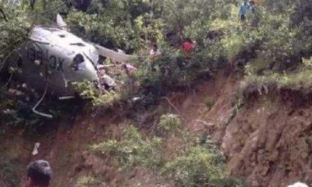 Cae helicóptero con viveres en Oaxaca