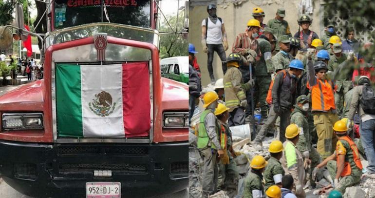 Un trailer que se dirigía a Puebla con víveres para los afectados del temblor fue robado en la autopista México-Puebla la noche de este miércoles