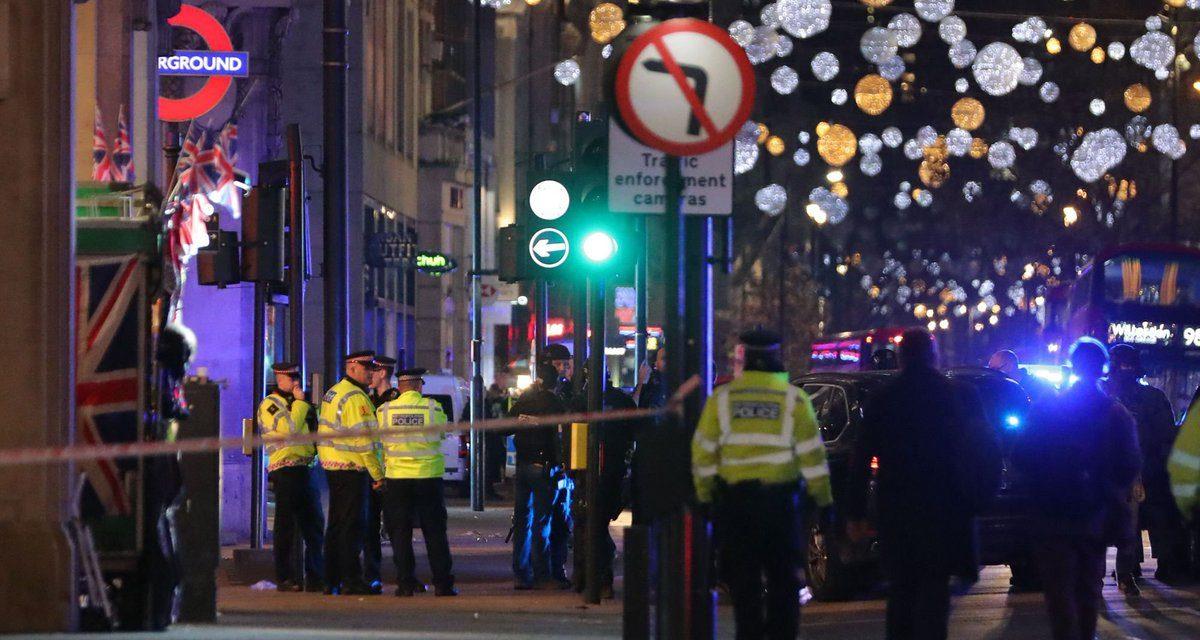 Movilización policiaca por supuesto atentado terrorista en Londres.