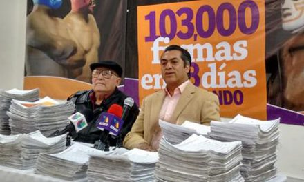 Jaime Rodríguez Calderón llega a 645 mil firmas recolectadas.
