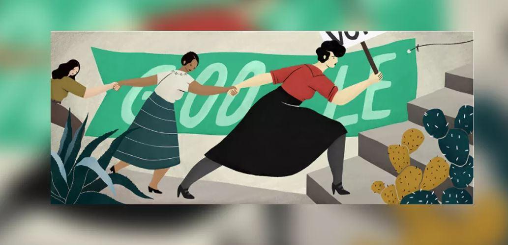 HILDA PALAFOX CREADORA DEL DOODLE EN HOMENAJE A ELVIA CARRILLO PUERTO