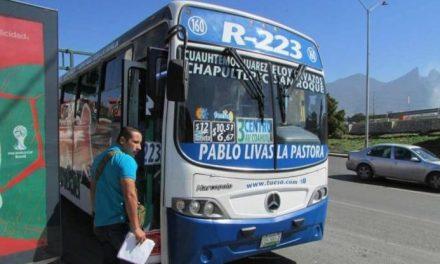 GOBIERNO DE NUEVO LEÓN DESCARTA ALZA DE PRECIOS AL TRANSPORTE PÚBLICO.