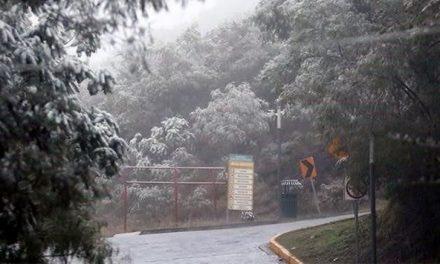 Monterrey y su área metropolitana bajo hielo.