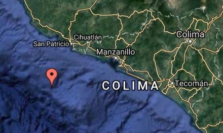 Sismo Moderado a 65 km al Suroeste de Cihuatlan, Jalisco