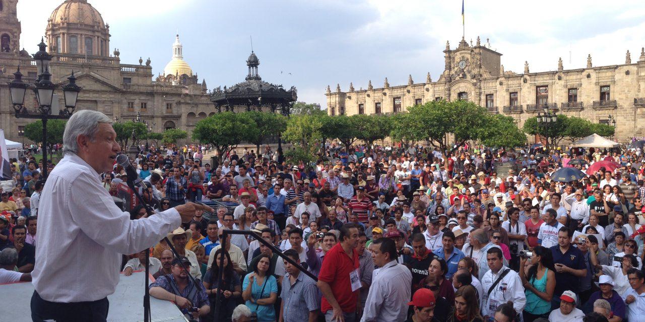AMLO cierra pre-campaña en Guadalajara