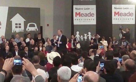 """""""Necesito el apoyo de todos ustedes""""- Meade en expo Guadalupe, NL."""