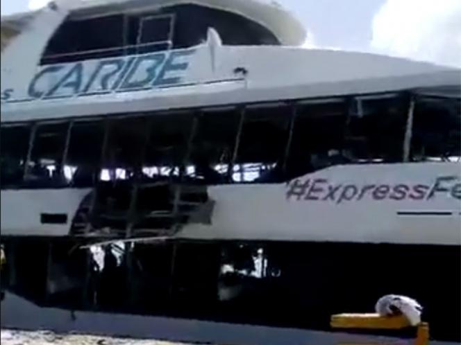 Explosión de Ferry en Playa del carmen deja 15 heridos