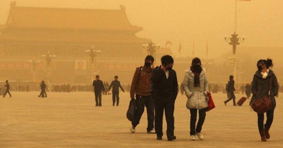 Tormenta de Arena en el norte de China