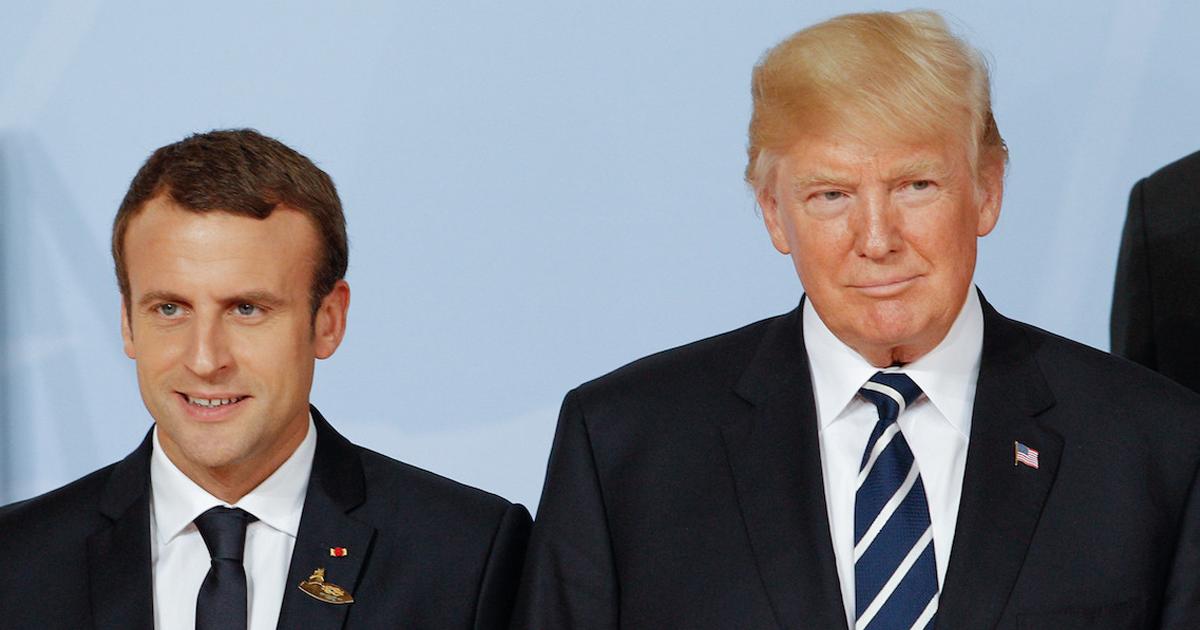 Macron llega a EU