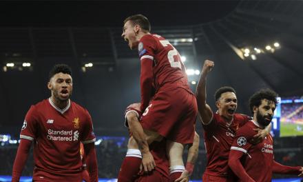 Así quedó el marcador del partido Liverpool-Roma