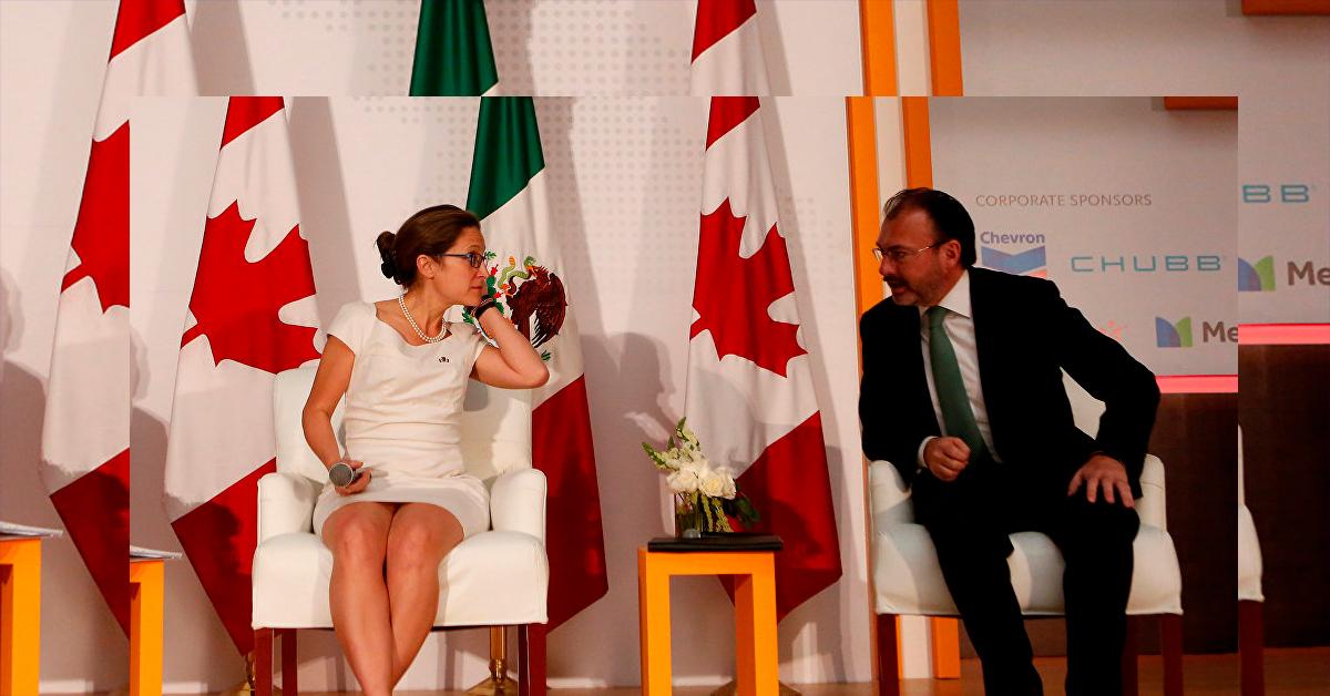 Ministra canadiense se reúne con Luis Videgaray
