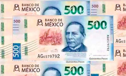 Billete de 500 pesos tendrá nuevo rostro