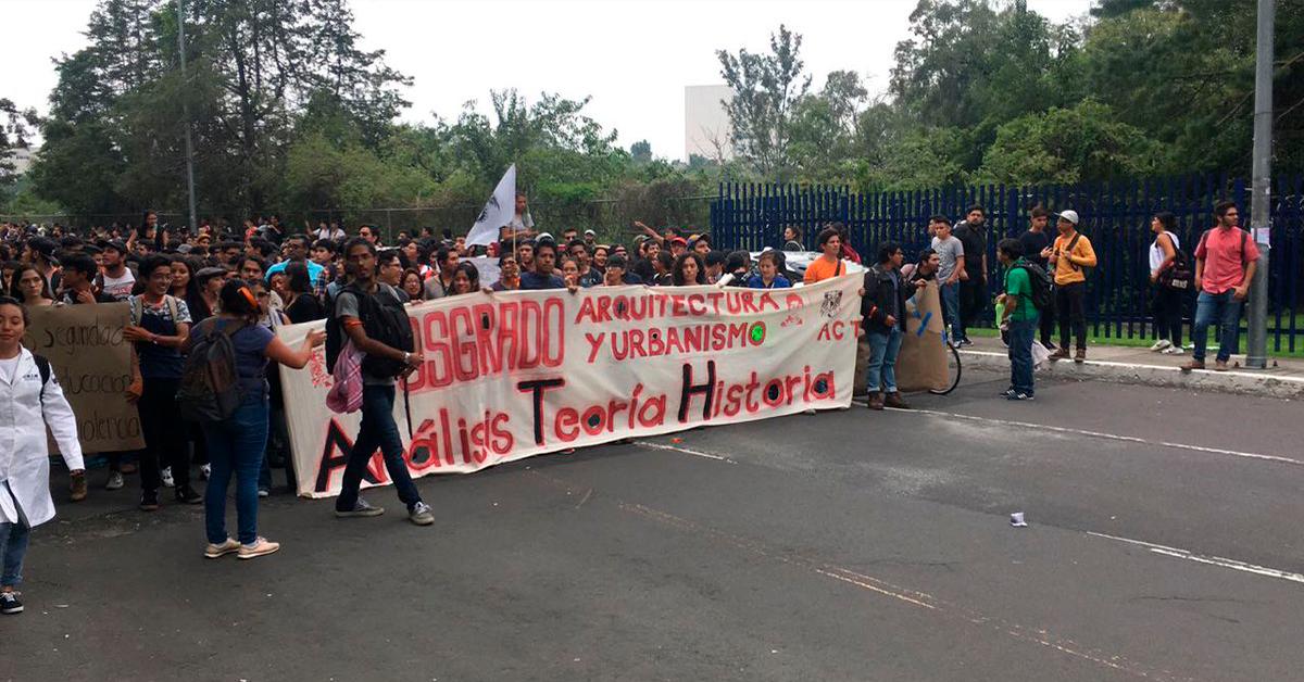 Estudiantes de la UNAM y del Poli contra la violencia
