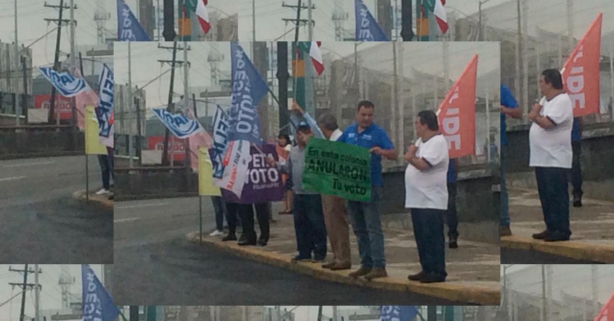 El pueblo no olvida, protesta en la carretera nacional