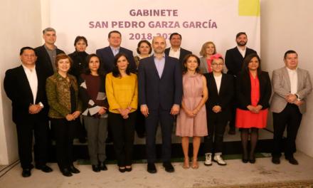Presentan gabinete de Manuel Treviño