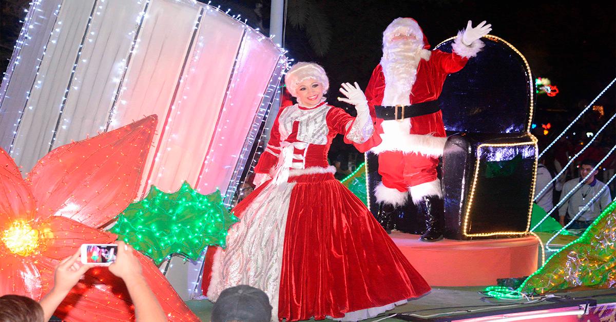 San pedro listo para el desfile navideño