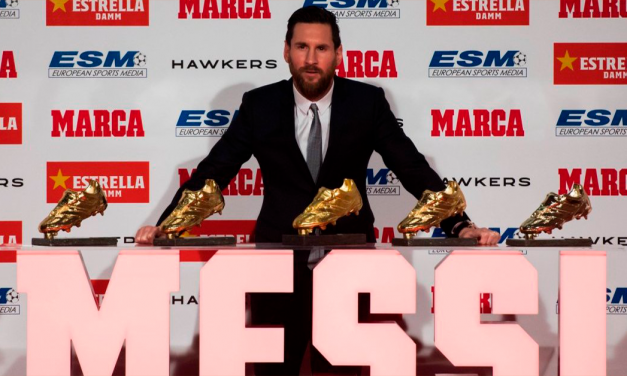 Messi Supera a CR7; su 5ª Bota de Oro