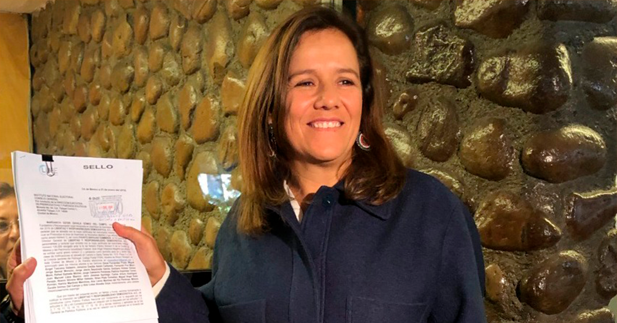 "Margarita Zavala registra ""México Libre"" ante INE"
