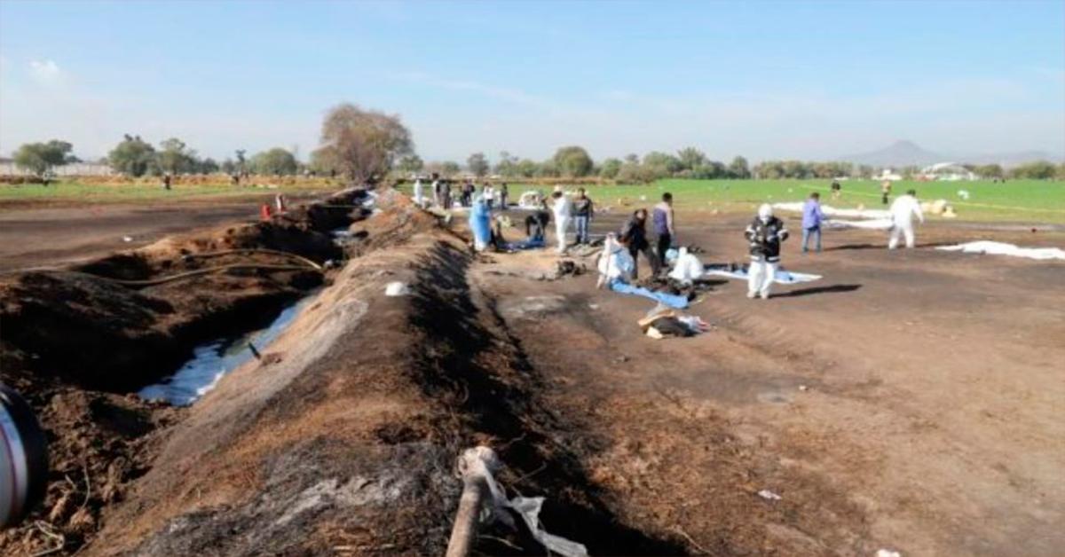 Suman 91 muertos por explosión en Tlahuelilpan