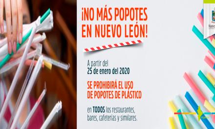 Prohíben usar popotes en Nuevo León