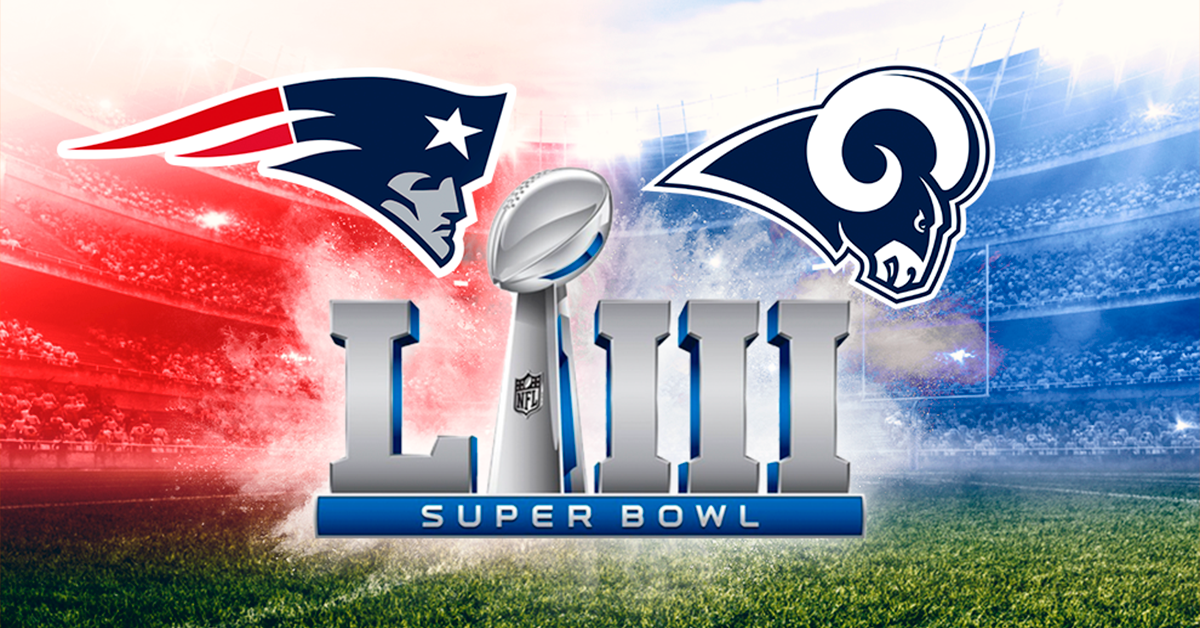 Patriotas vs. Carneros en la 53° edición del Super Bowl