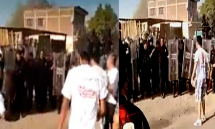 Policías y maestros de la CNTE se enfrentan previo al evento de AMLO en Michoacán