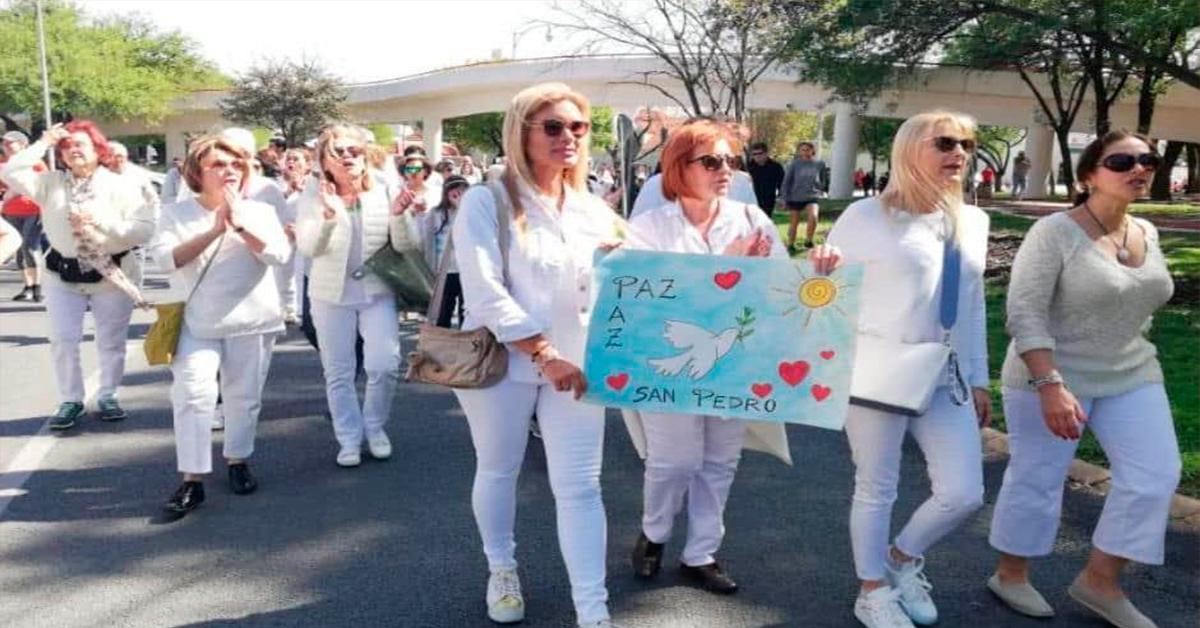 Marchan vecinos de San Pedro por ola de violencia