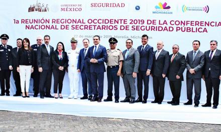 """Presenta Clara Luz el """"Modelo Nacional de Coordinación y Gestión Policial"""" en reunión nacional de seguridad"""
