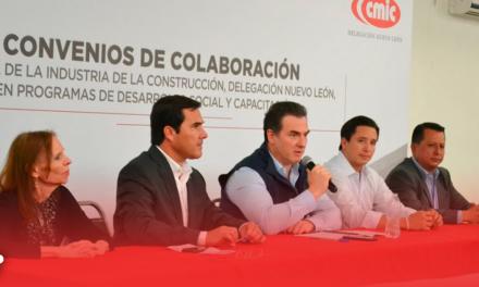 Refrendan Monterrey y CMIC convenios de colaboración