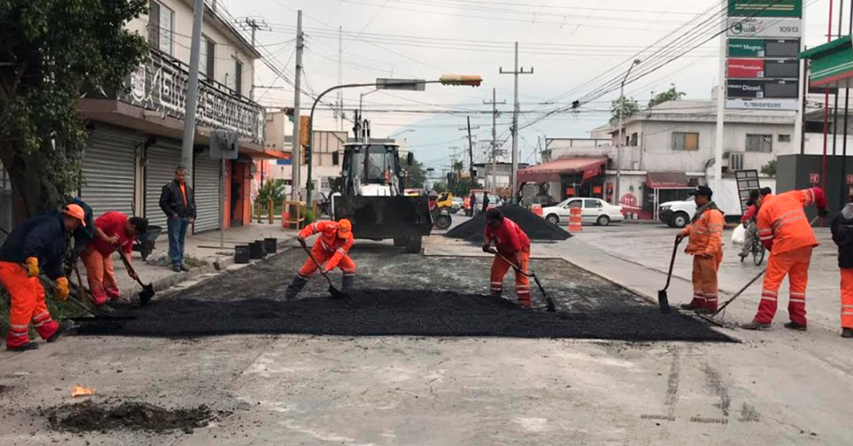Inicia Municipio de Monterrey trabajos de bacheo