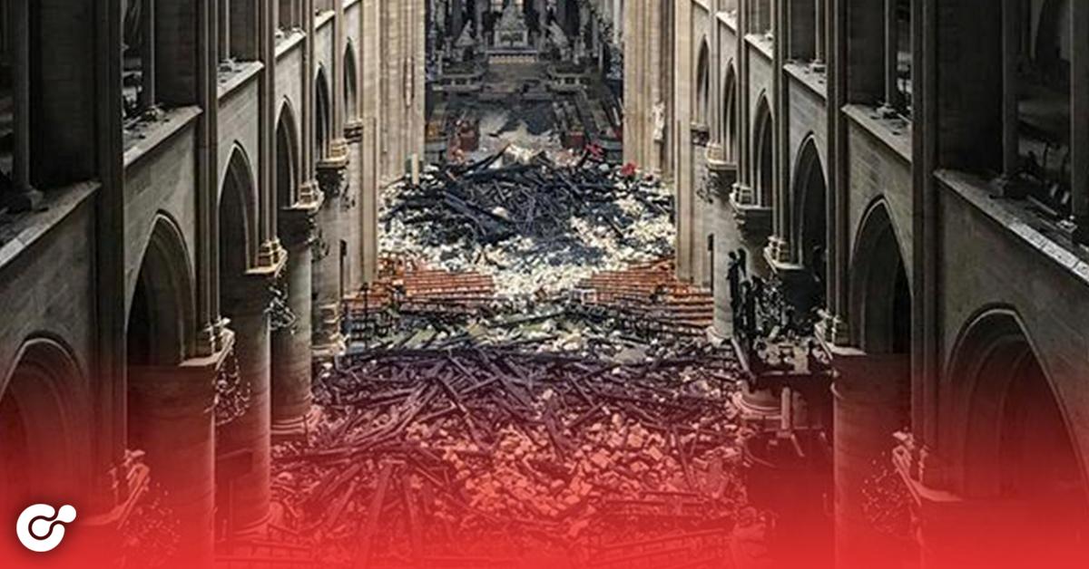 Así quedó Notre Dame por dentro