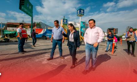 Supervisa Cristina rehabilitación de avenidas