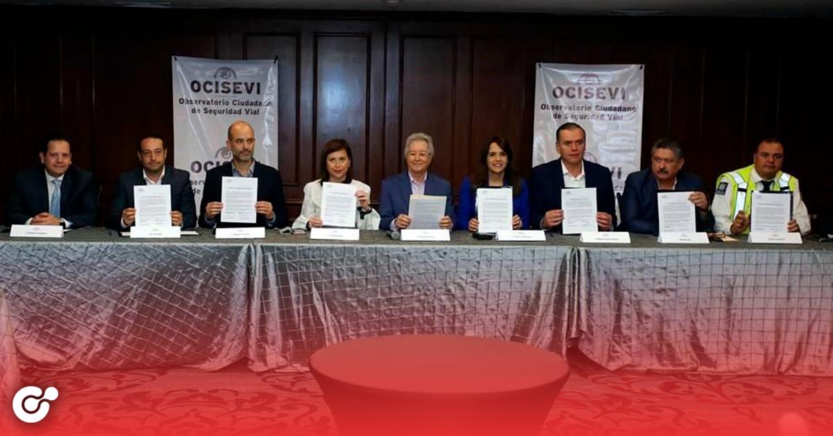 Firman alcaldes convenio de seguridad vial