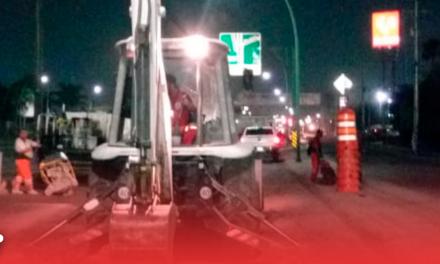 Intensifican trabajos de bacheo en Monterrey