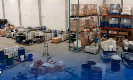 Aseguran laboratorio de drogas en García