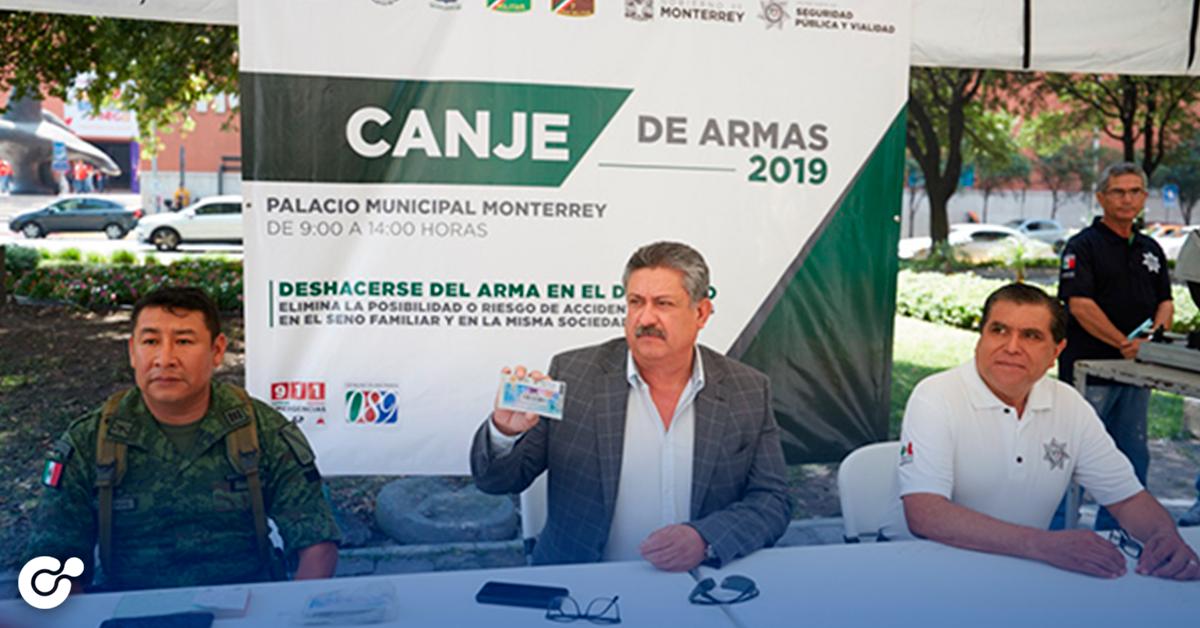 Arranca Monterrey canje de armas