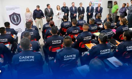 INICIAN CADETES GUADALUPE CAPACITACIÓN DE POLICÍA TURÍSTICA