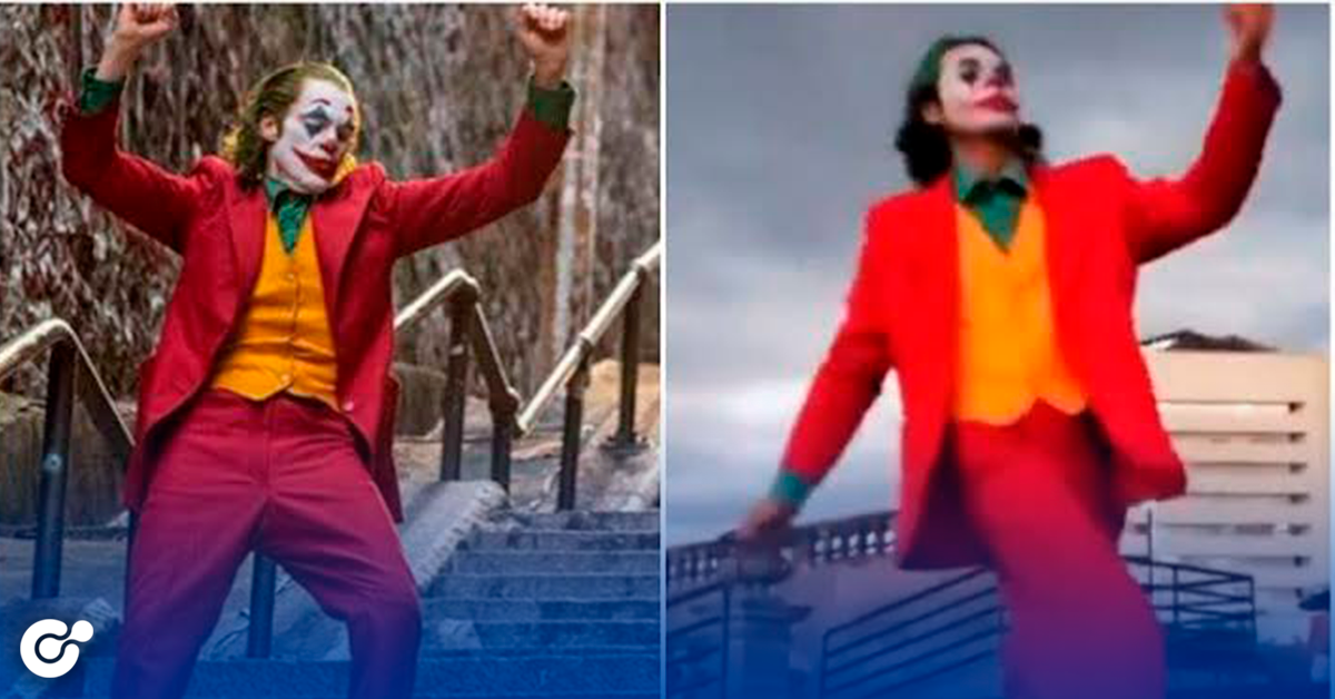 Fan del 'Joker'  imita el baile en la Macroplaza