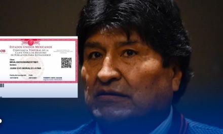 México a Evo Morales CURP temporal