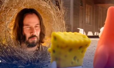 Keanu Reeves enciende internet tras aparecer en el tráiler de 'Bob Esponja: Al rescate'