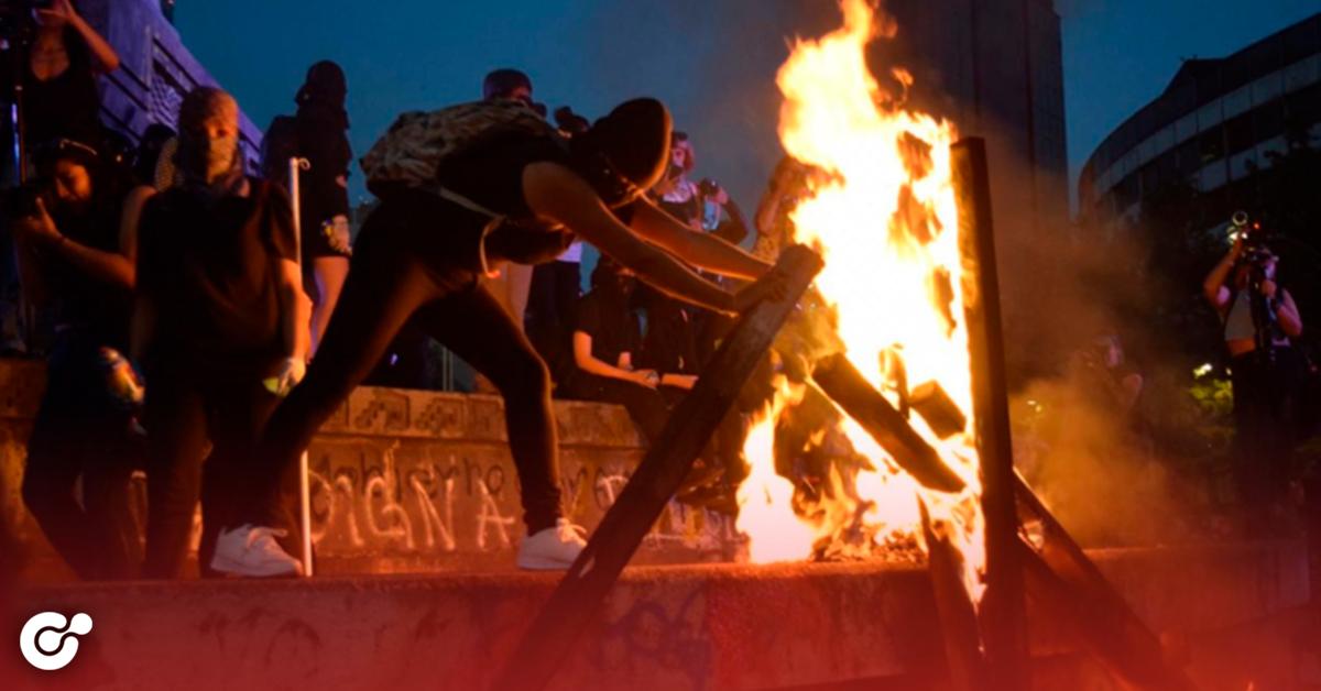 Hechos vandálicos en marcha en CDMX