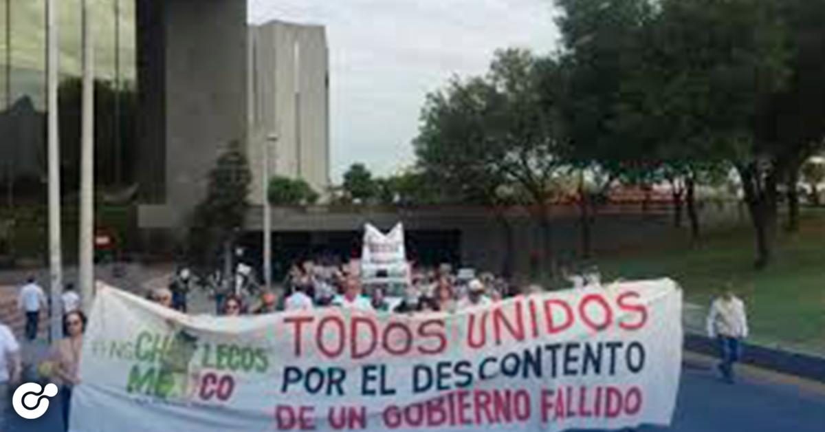 Nuevo León Protesta en contra de AMLO
