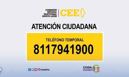 CEENL PRESENTA CAMBIOS DE NÚMERO TELEFÓNICO