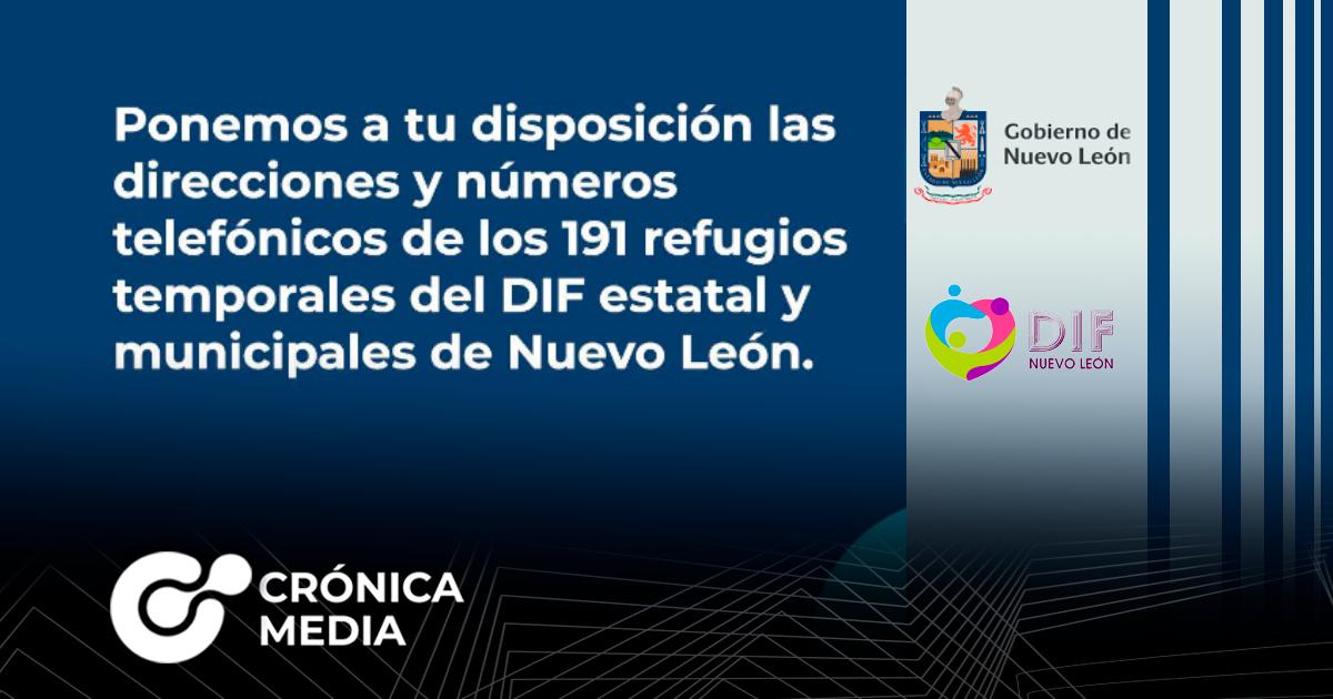 Ponen a disposición albergues y teléfonos de emergencia en Nuevo León tras la tormenta Hanna