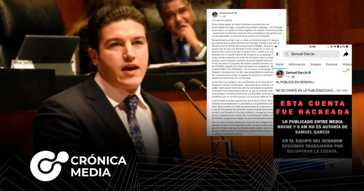 Hackean red social de Samuel García y difunden noticias falsas
